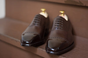 Carlos Santos Medium Brown Punched Captoe Balmoral Oxford (Sample Fitting Pair)