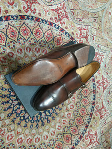 Carlos Santos Double Monkstrap in Algarve Patina (Sample Fitting Pair)