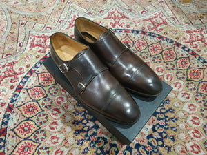 Carlos Santos Double Monkstrap in Coimbra Patina (Sample Fitting Pair)