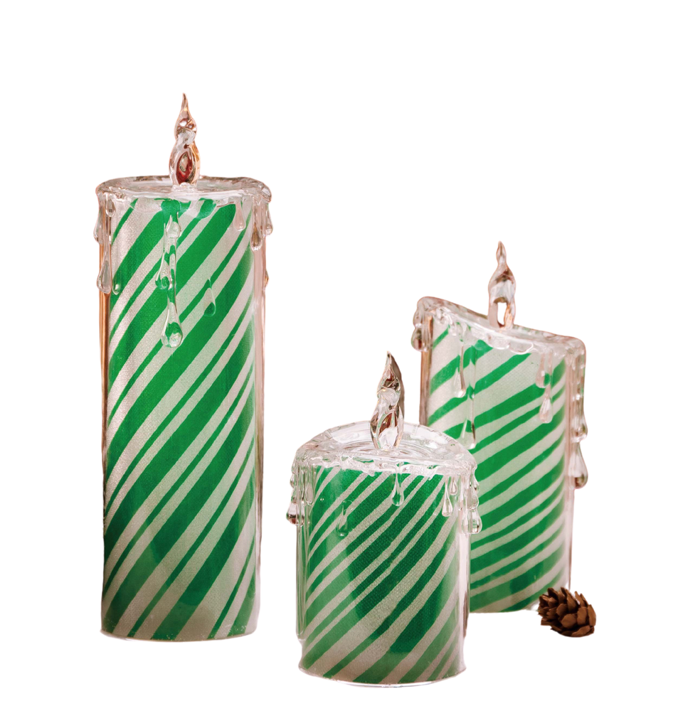 Red Peppermint Candle Set - Icycraft