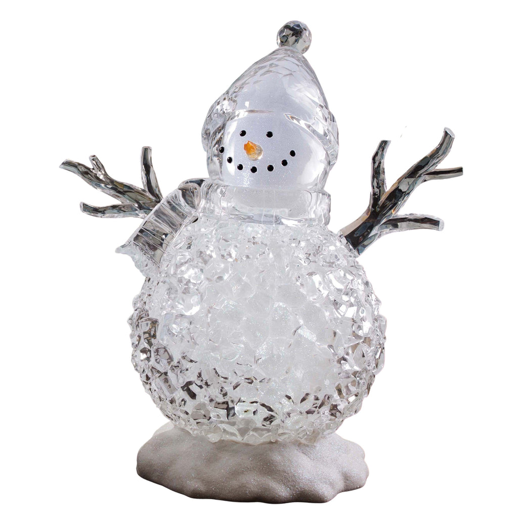 Small Silver Glitter Snowman  - Icycraft