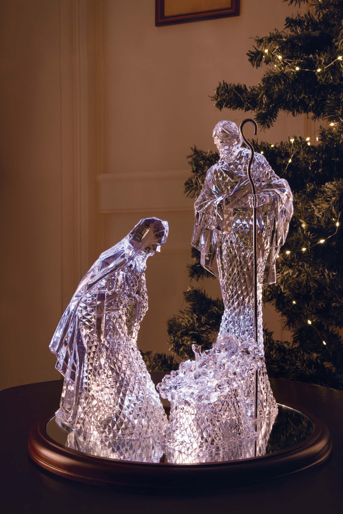 Large Diamond Cut Holy Family  - Icycraft