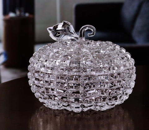 Diamond Cut Pumpkin Jar