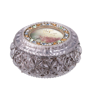 Diamond Cut Golden Round Box