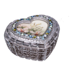 Diamond Cut Silver Heart  Box