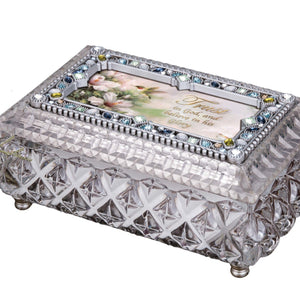 Diamond Cut Silver Jewelry Box