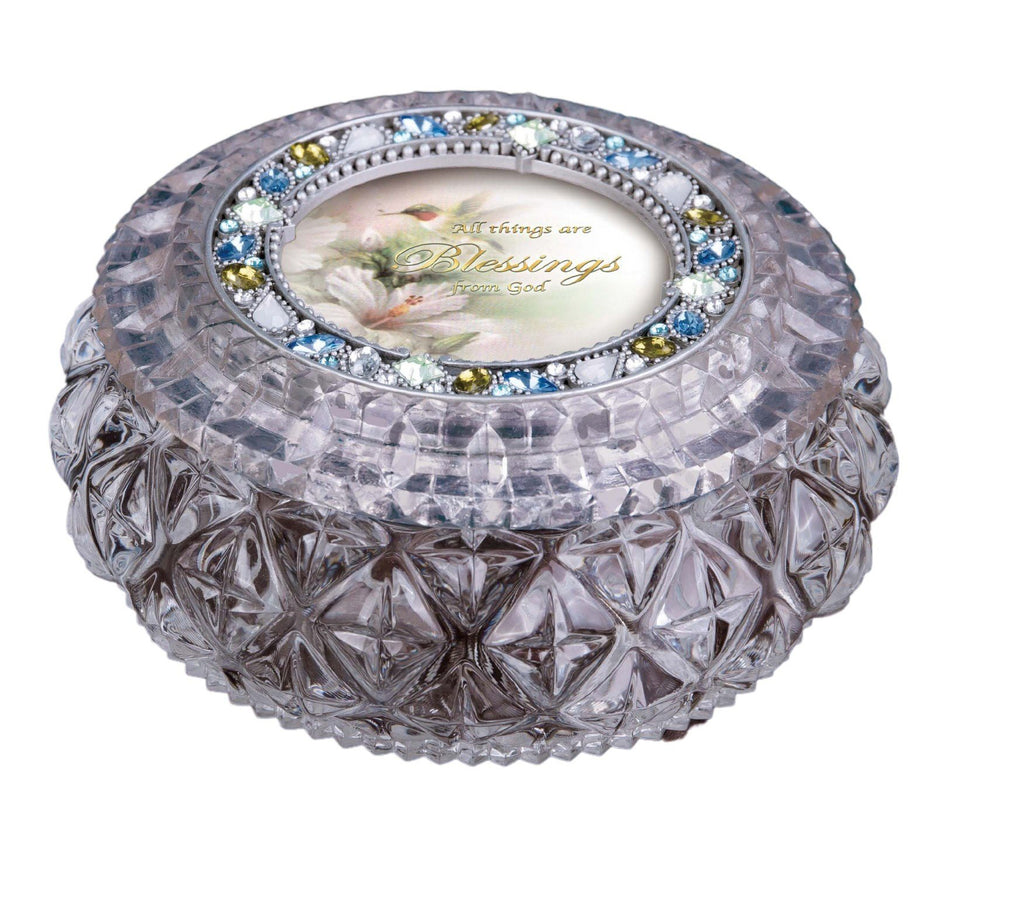 Diamond Cut Silver Round Box  - Icycraft