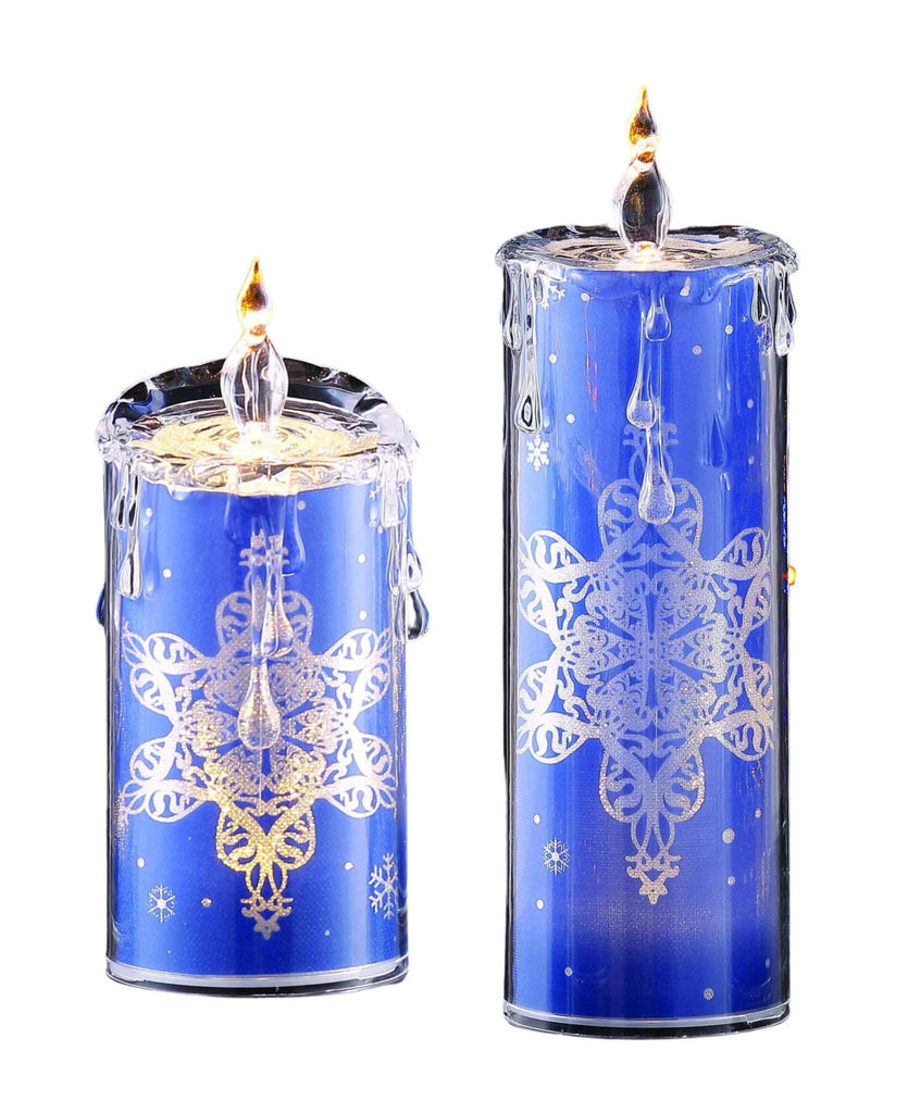 Blue Snowflake Candle set - Icy Craft