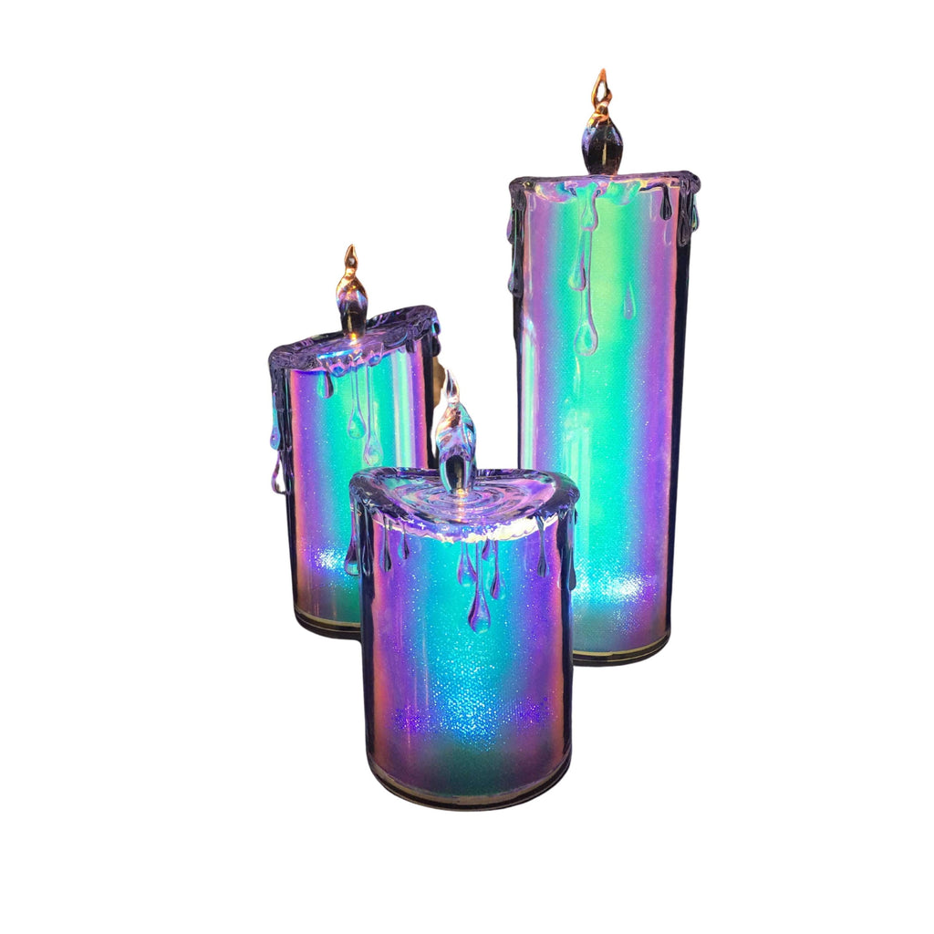 Glitter Multi Color Candle Set - Icy Craft