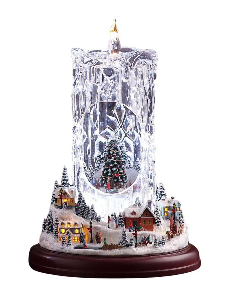 Christmas Village Diamond Cut Candle - Icy Craft