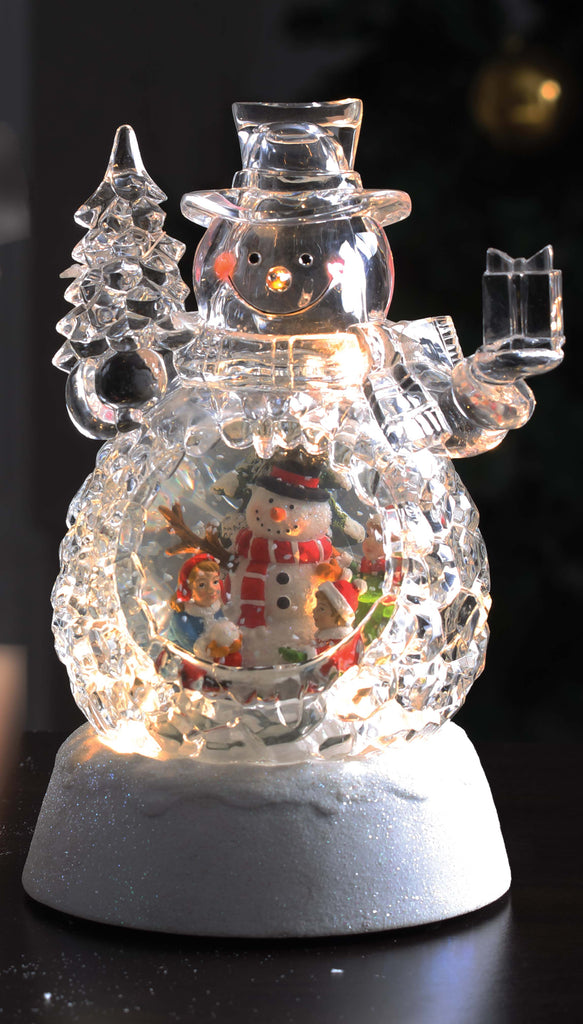 Double Snowman Waterglobe