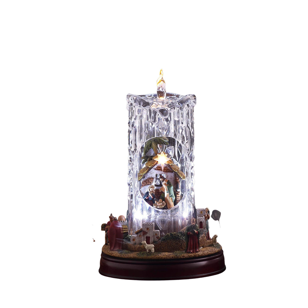 Nativity Set Diamond Cut Candle - Icy Craft