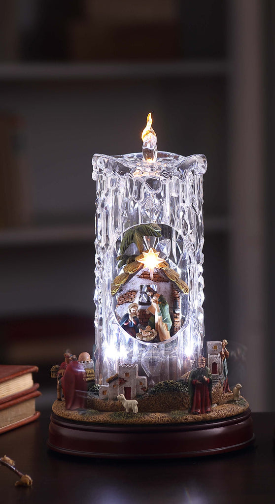 Nativity Set Diamond Cut Candle