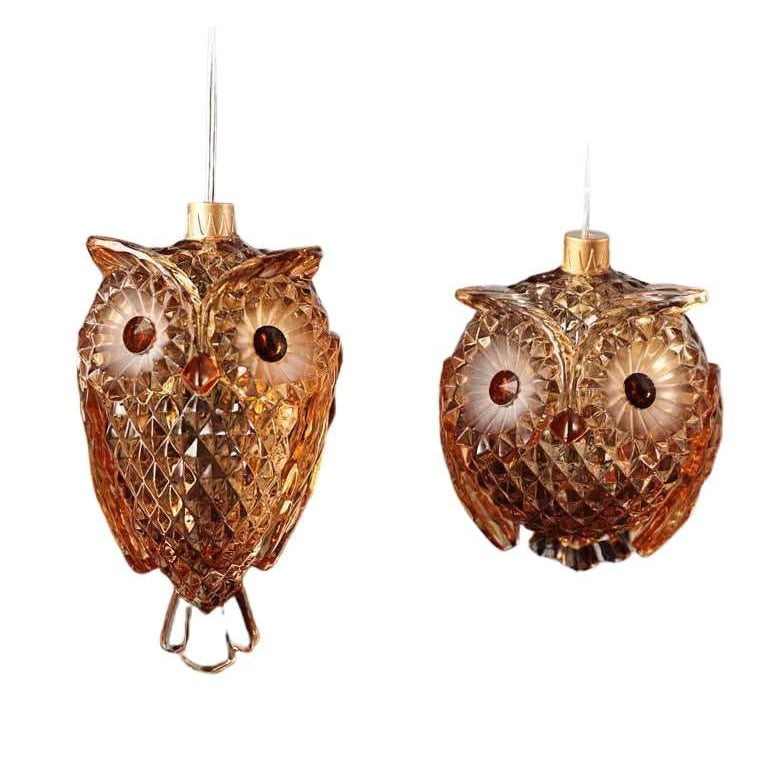 Amber Owls Orn - Icy Craft