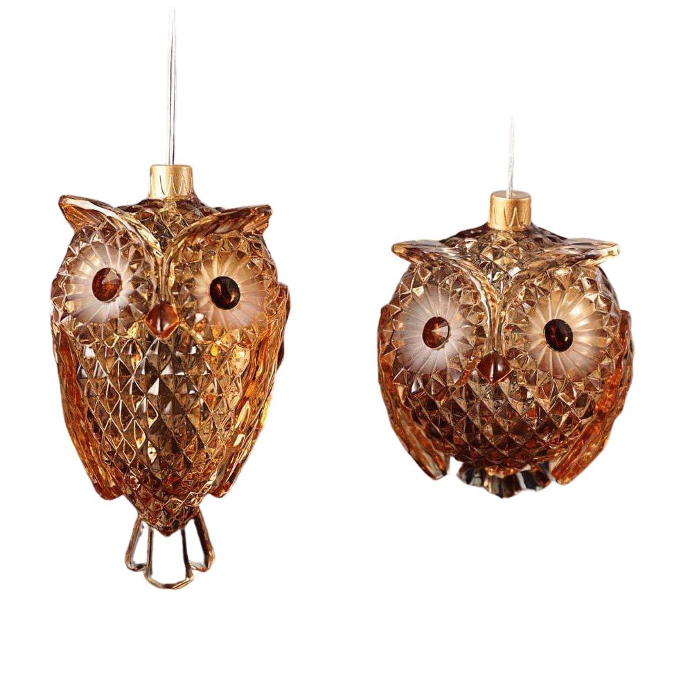 LED String Amber Owls - Icy Craft
