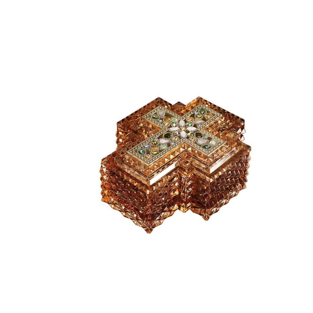 Cross Amber Jewelry Box - Icy Craft