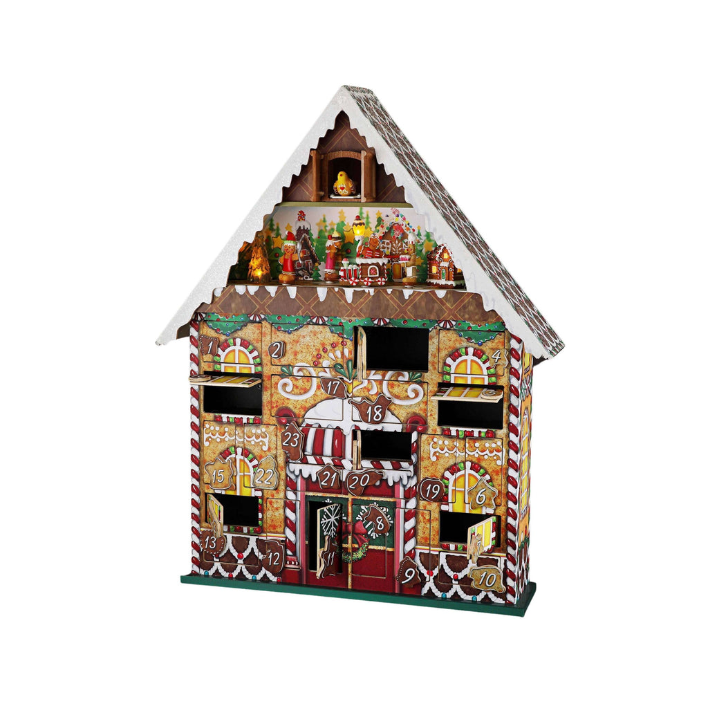 Advent Calendar House w/ Musical Mechanism - Icy Craft