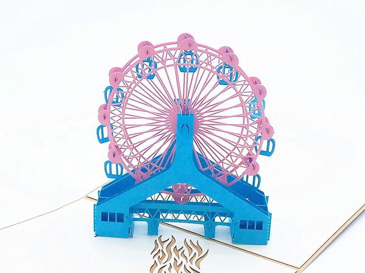 Modern Ferris Wheel Pop-Up Card