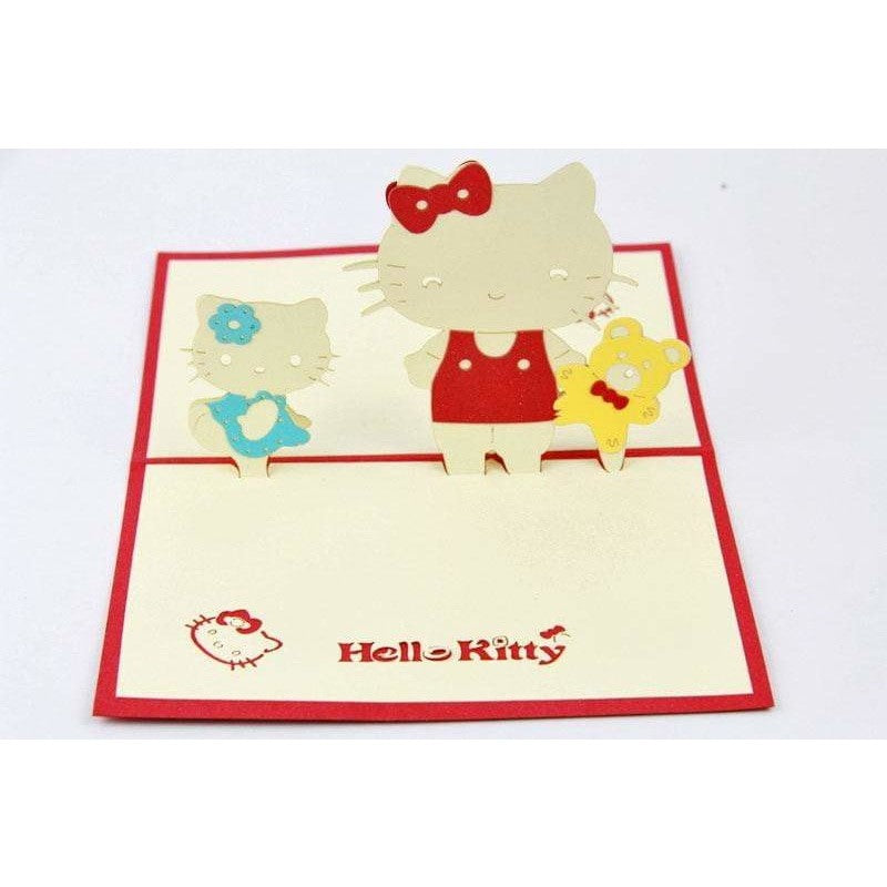 Hollo Kitty Pop-Up Card - Icy Craft