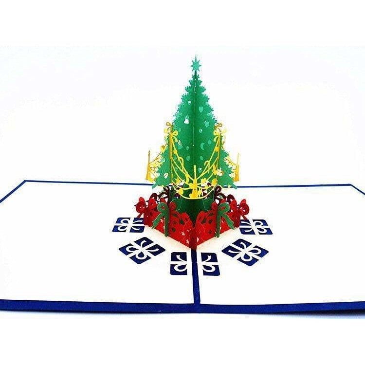 Christmas Tree w/ Garland Pop-Up Card - Icy Craft