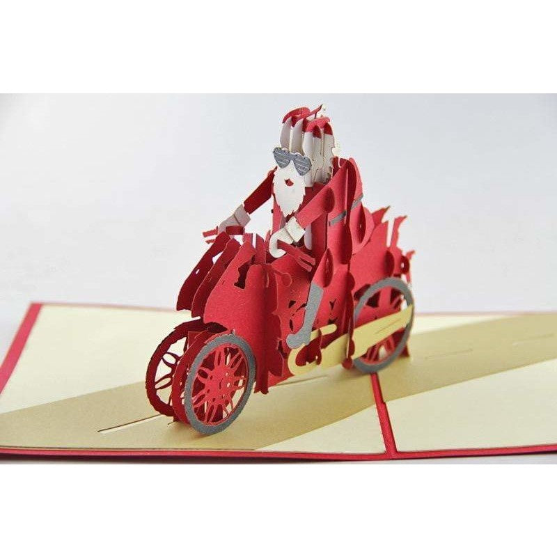 Santa Motorcycle Pop-Up Card - Icy Craft