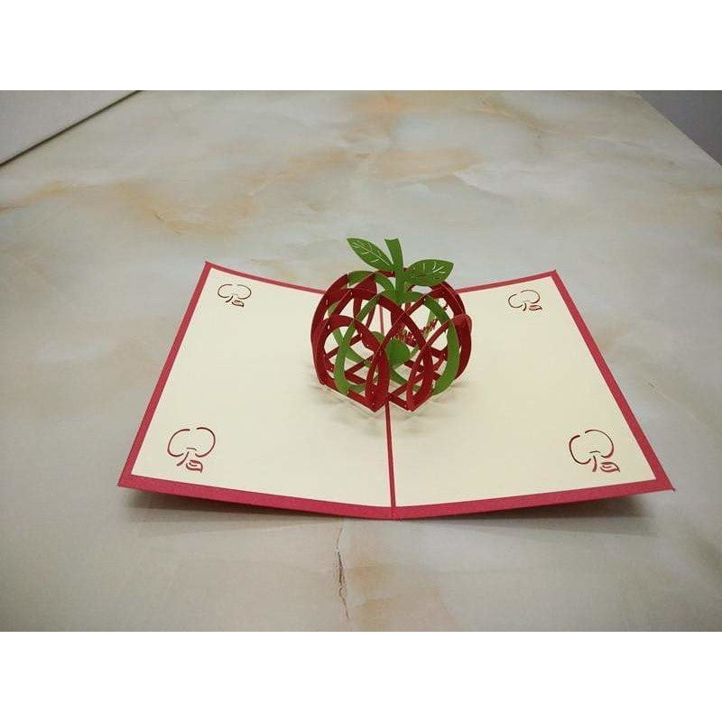 Merry Christmas Apple Pop-Up Card - Icy Craft