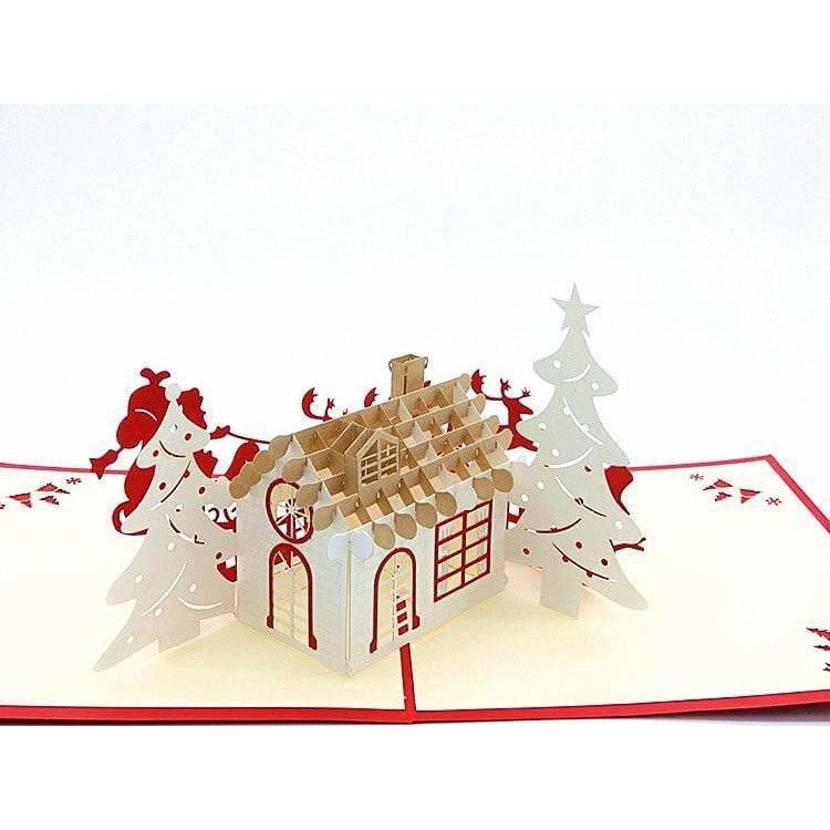 Gingerbread House Pop-Up Card - Icy Craft