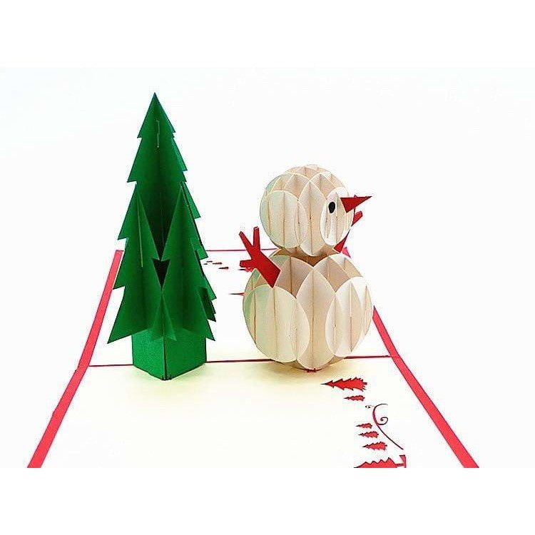 Snowman & Tree Pop-Up Card - Icy Craft