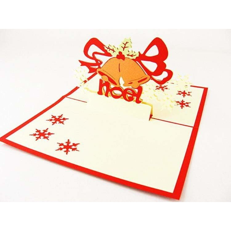 Noel Bells Pop-Up Card - Icy Craft