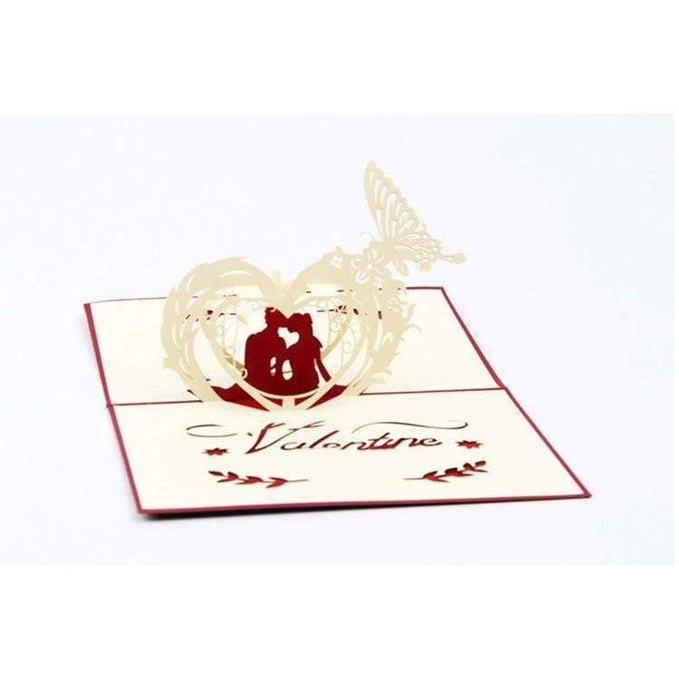 Valentine Silhouette Pop-Up Card - Icy Craft
