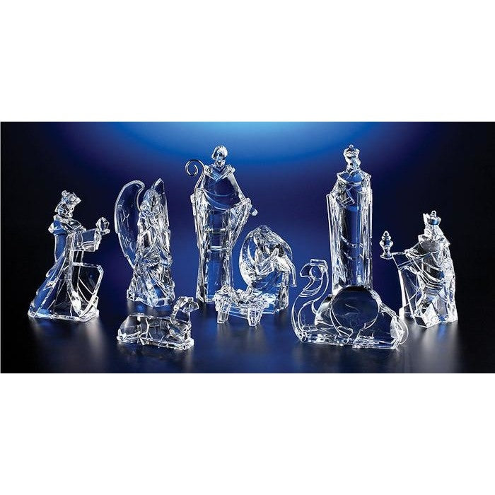 Nativity Figures, Clear - Icy Craft