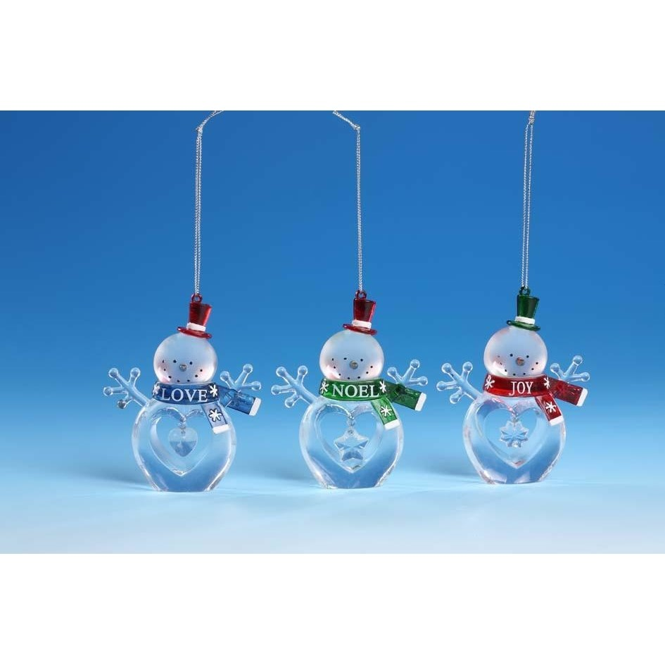 """Joy"" ""Love"" & ""Noel"" Snowmen - Icy Craft"
