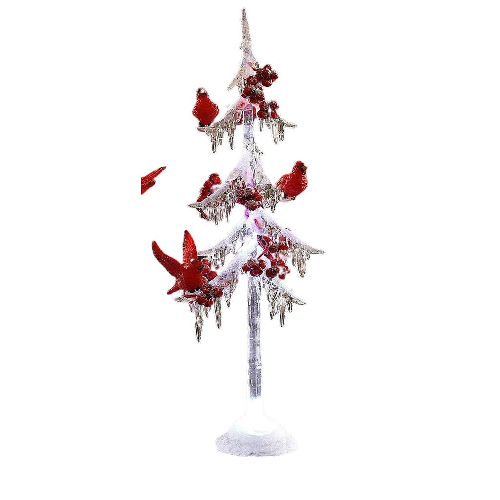 "Icicle Tree w/ Cardinals 13"" - Icy Craft"