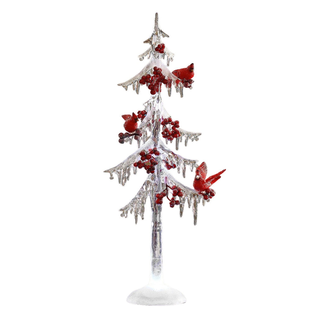 "Icicle Tree w/ Cardinals 18"" - Icy Craft"