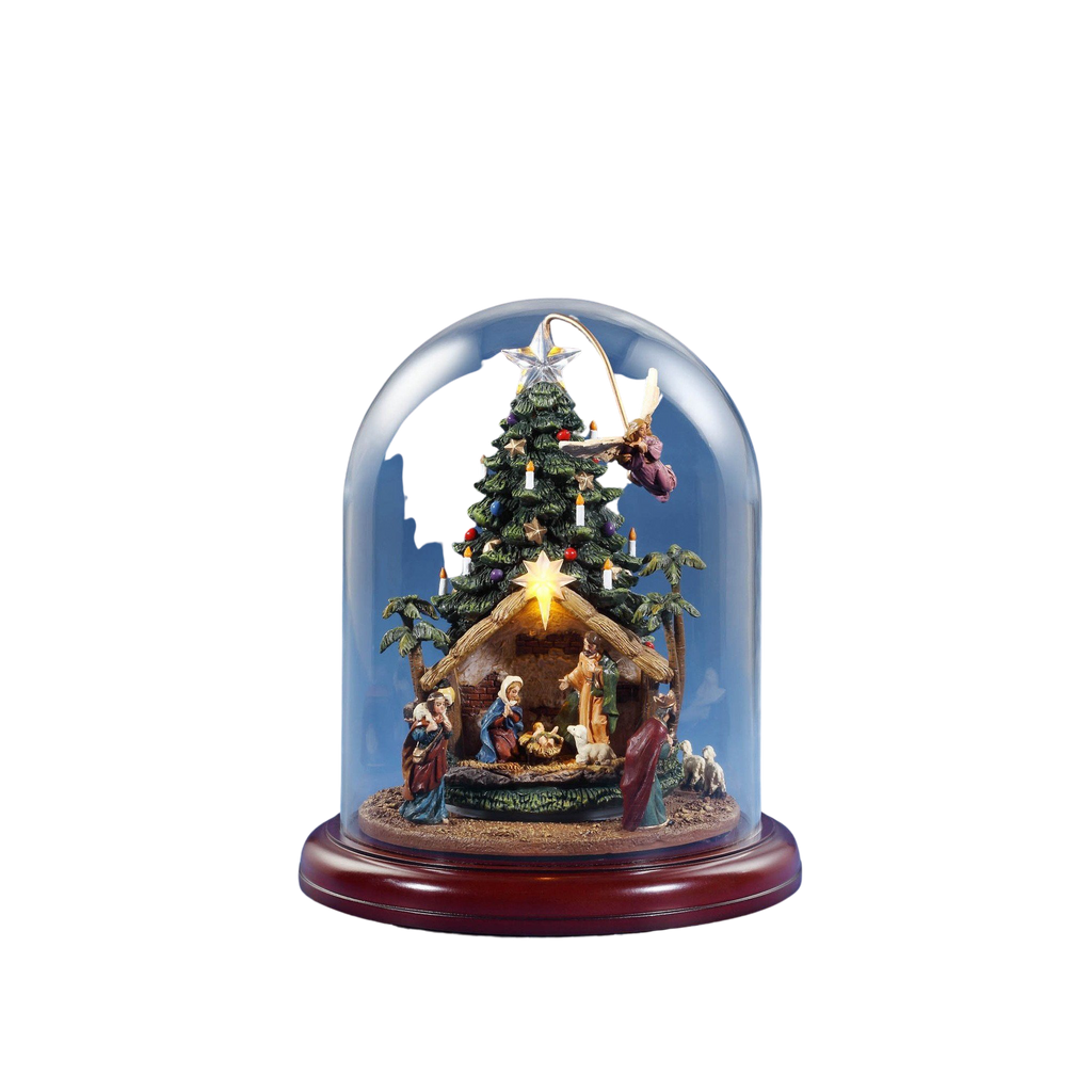 Angel Rotating Nativity Tree w/ Dome - Icy Craft