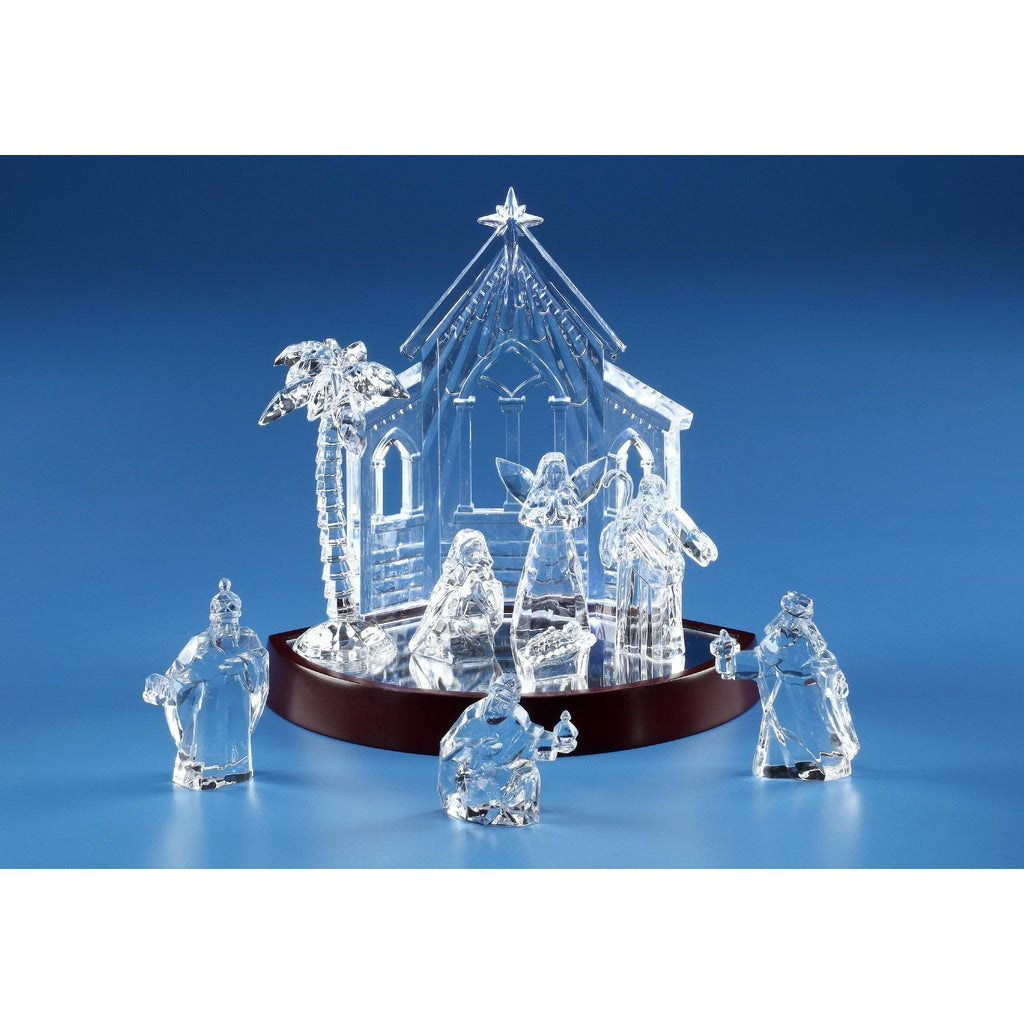 Miniature Nativity Set & Base - Icy Craft