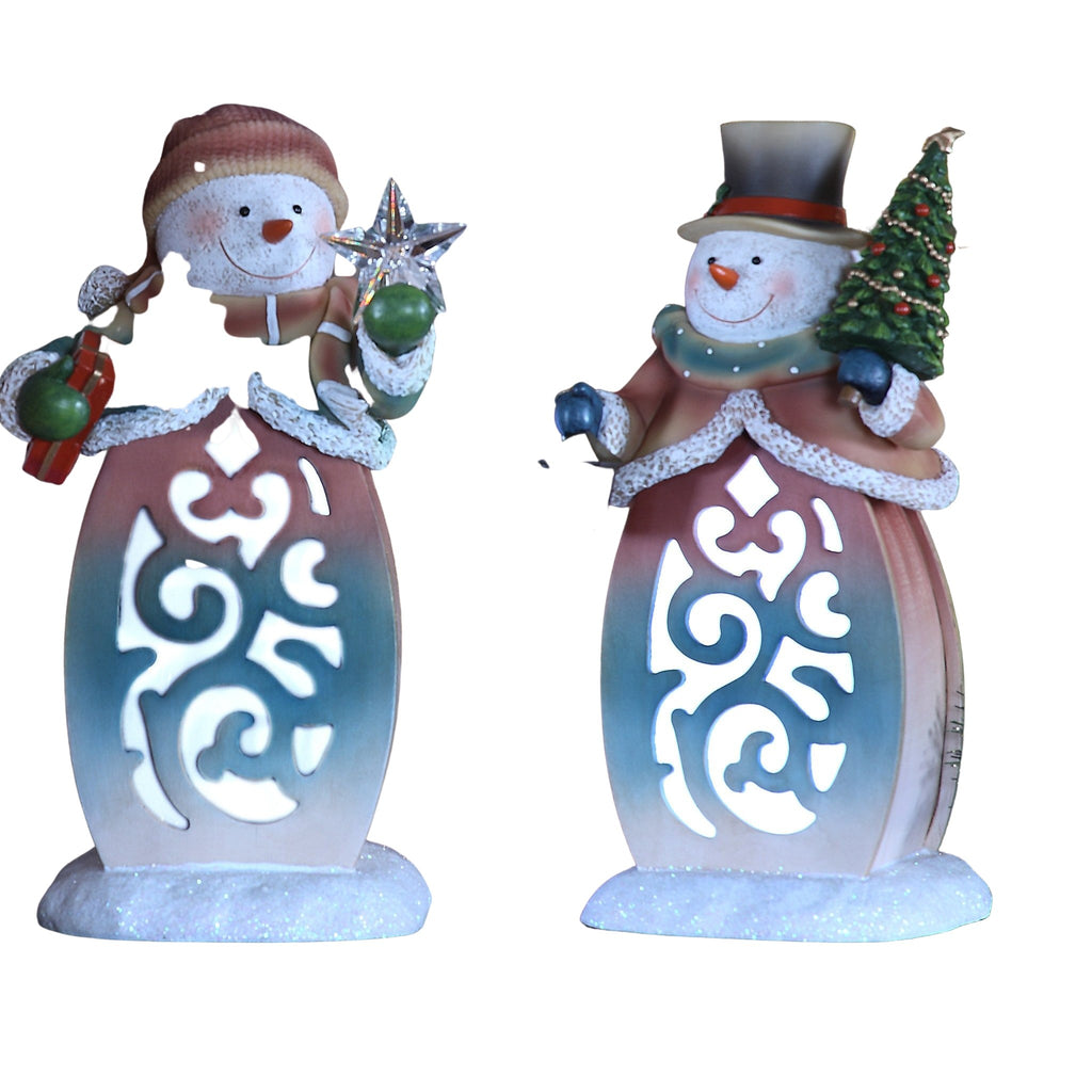 Snowman Scroll Lightbox - Icy Craft