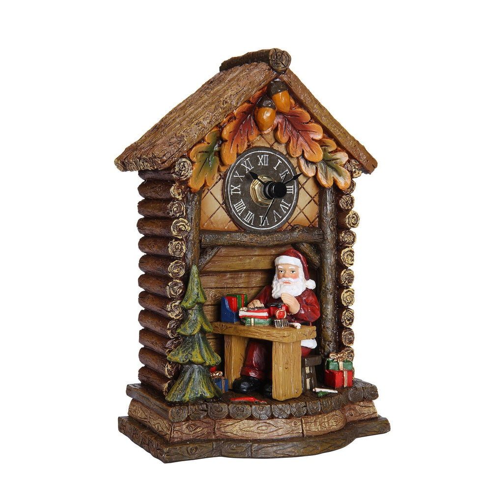 Santa Log Home Clock - Icy Craft