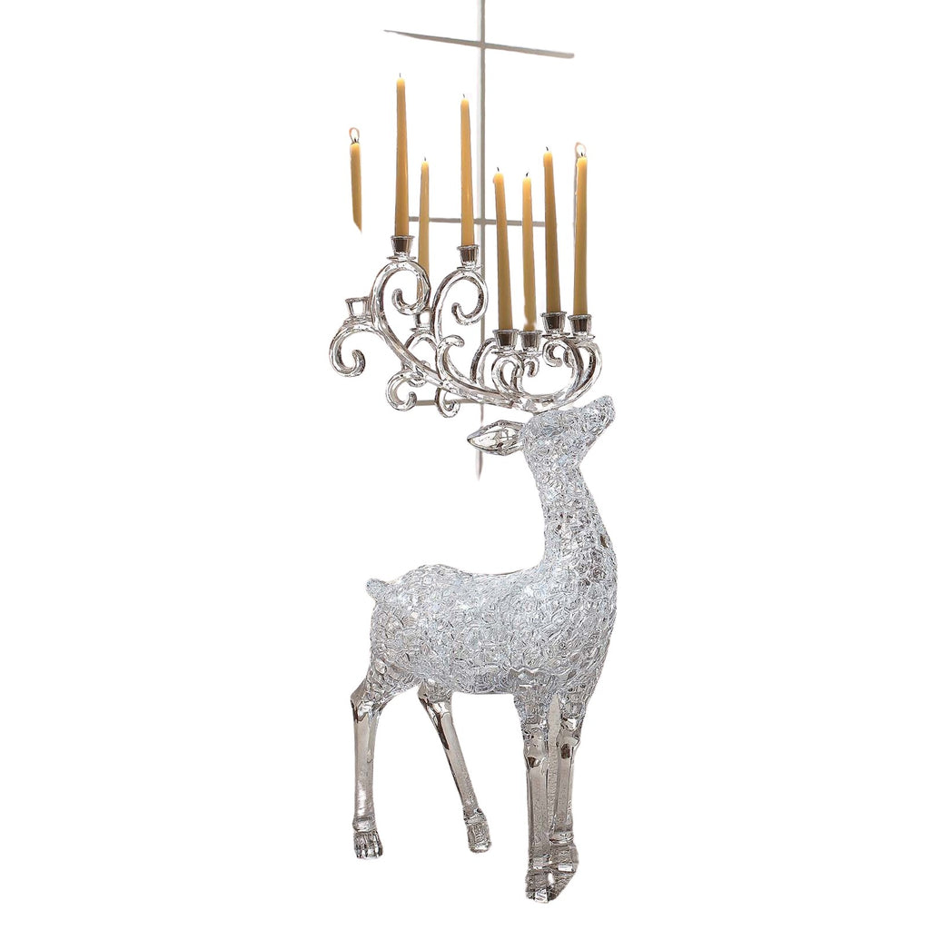 Lg. Ice Cube Candelabra Deer - Icy Craft