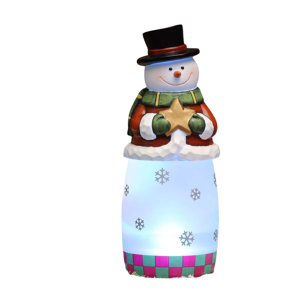 Frosty Whittled Snowman - Icy Craft