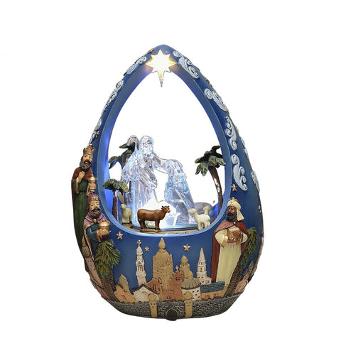 Nativity Folk Art Egg
