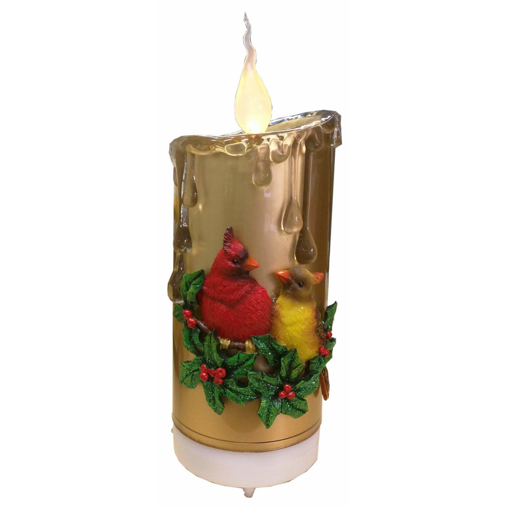 Gold Bluetooth Speaker Flicker Candle - Icy Craft