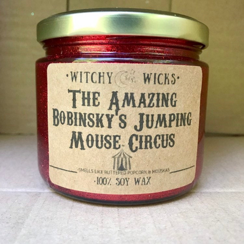 The Amazing Bobinsky's Jumping Mouse Circus 100% Soy Wax Candle