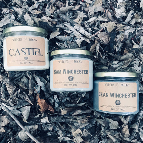 Sam, Dean & Castiel 100% Soy Wax Candles Combo Pack