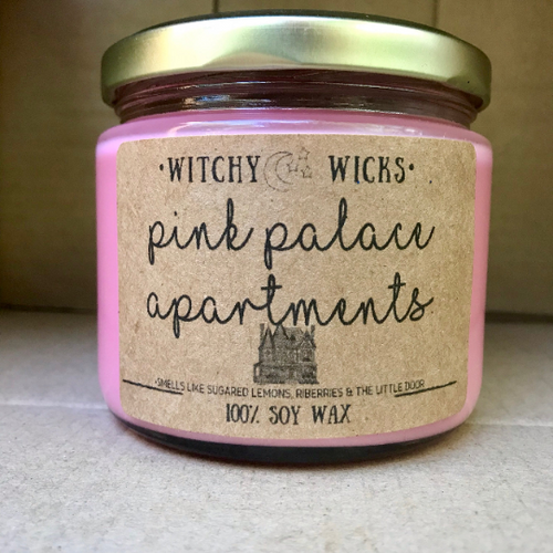 Pink Palace Apartments 100% Soy Wax Candle