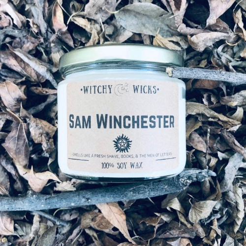 Sam Winchester 100% Soy Wax Candle