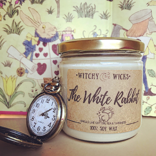 The White Rabbit 100% Soy Wax Candle