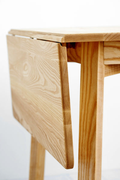 White Ash Drop-Leaf Table