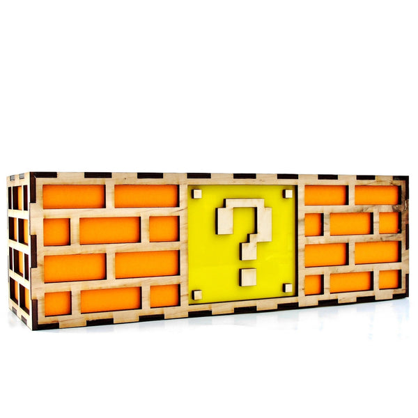 Mario Question Mark Brick Lamp