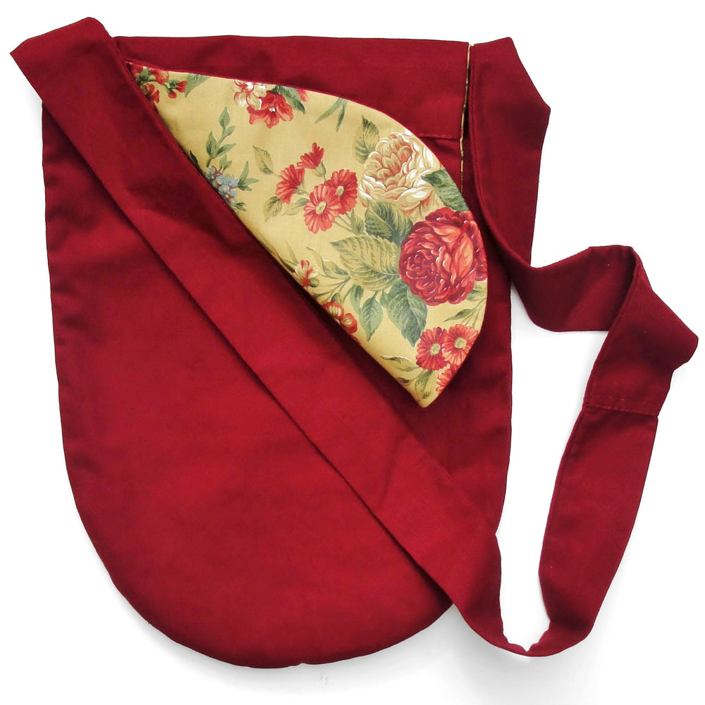 Reversible Red Canvas Bucket Bag